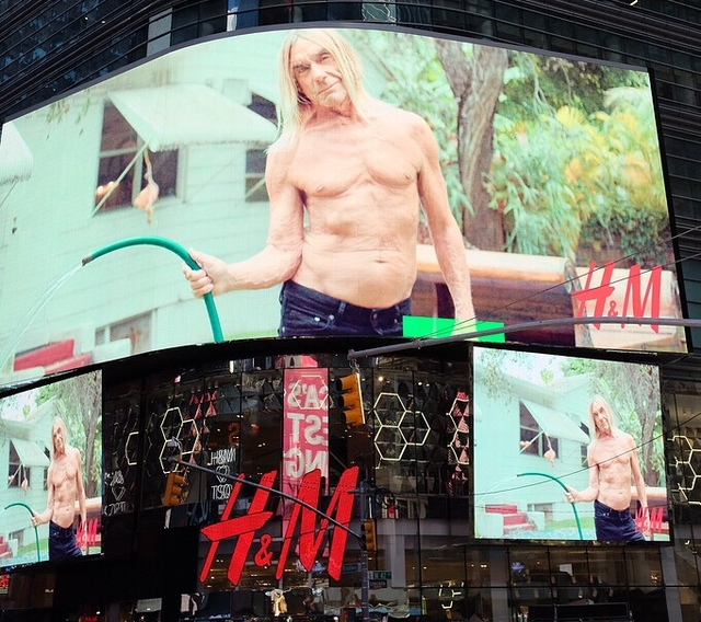 My Iggy pop campaign  for H&M Times Square NYC ,