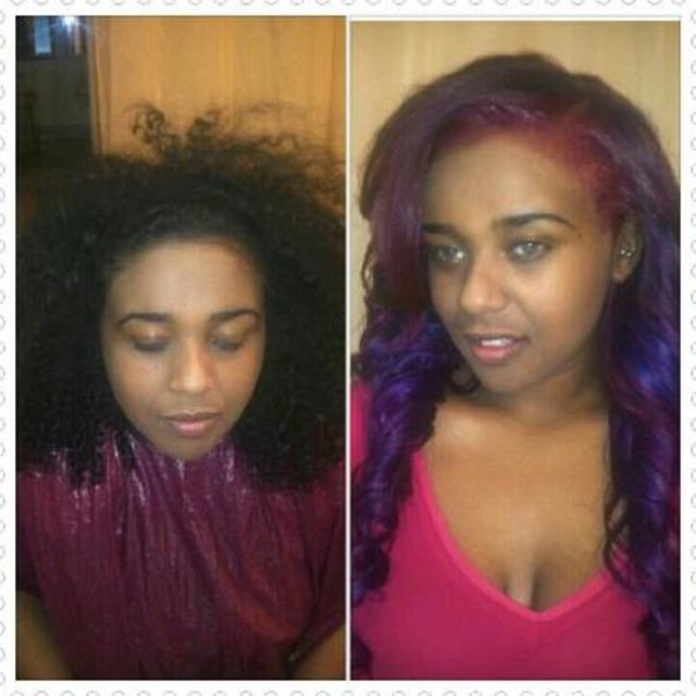 Custom Color Braidless Sew In