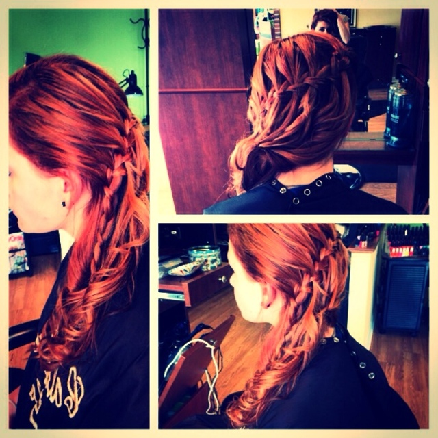 Waterfall updo/ Nikki Price