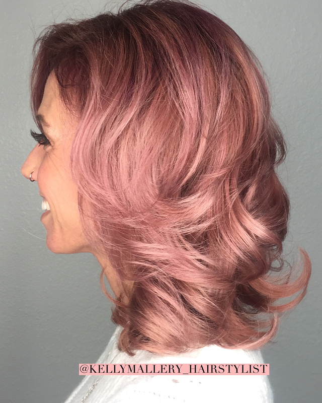 Dusty Rose gold using COLOR.ME by Kevin Murphy