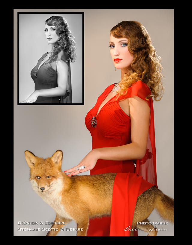fox  and lady