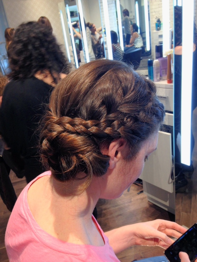 Quick wedding trial.  Melinda Brandt hair