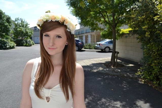 flower garland headband