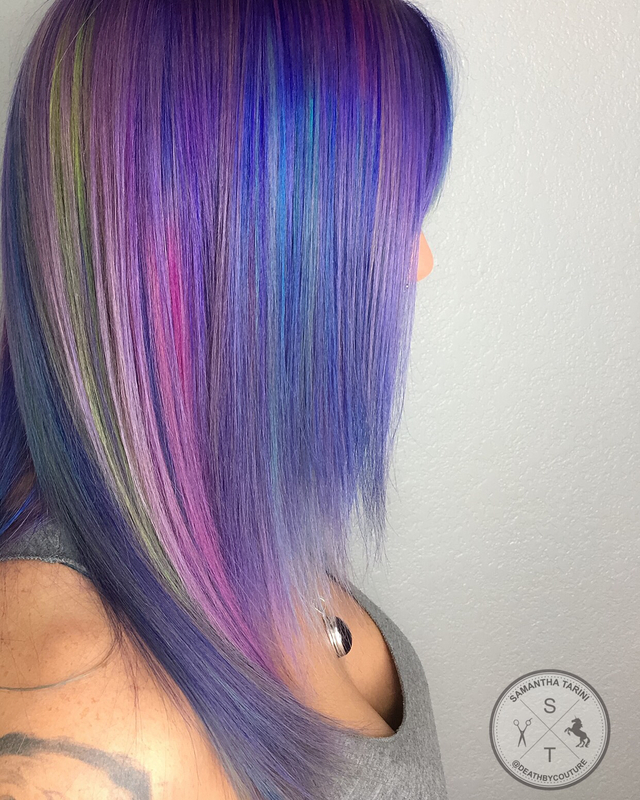 Holographic Hair - Purple Edition