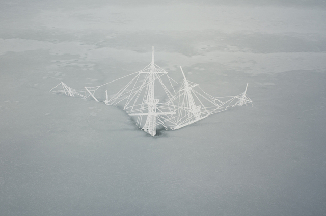 Christopher Russell, Ghost Shipwreck, 2012, unique scratched digital print, 40 x 60 in, 900pix, Luis De Jesus Los Angeles
