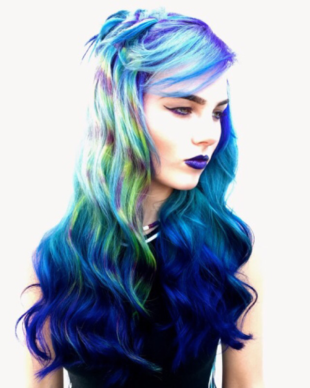 """hypnotic"" hair art"