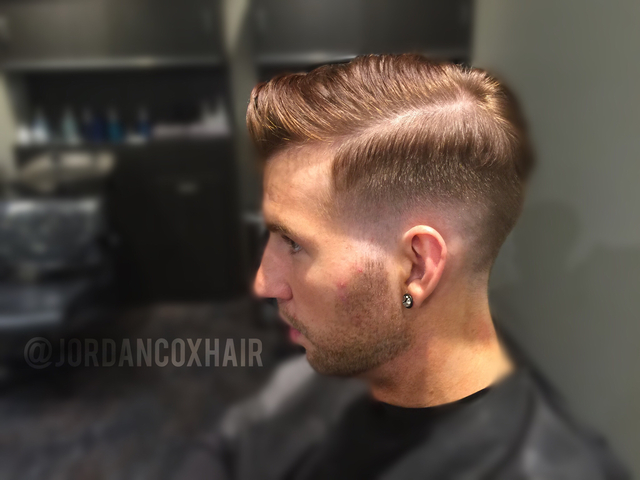"Freehand shear bald/skin fade by me. Only used one pair of 5"" shears for whole haircut."