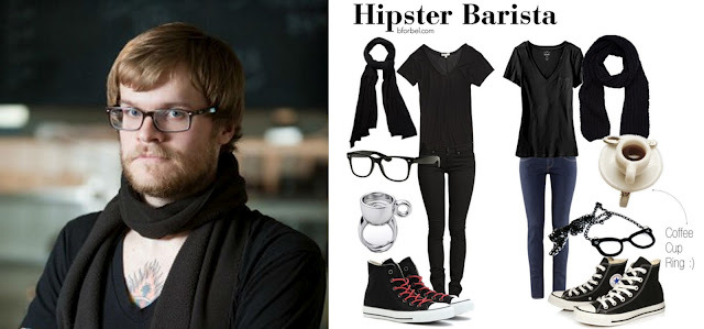 Hipster Barista Outfit Collage