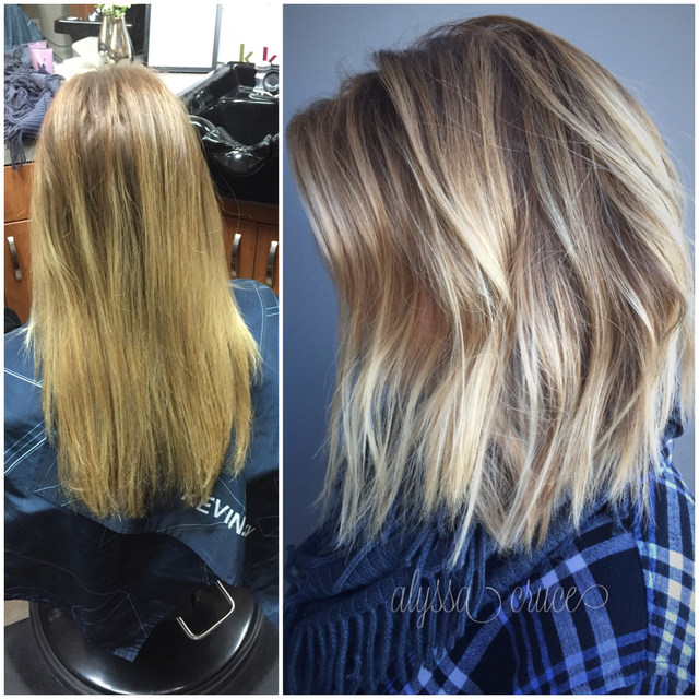 Before / after on Sarah