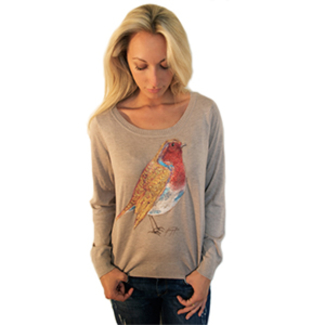 Angelika London Christmas Robin Jumper