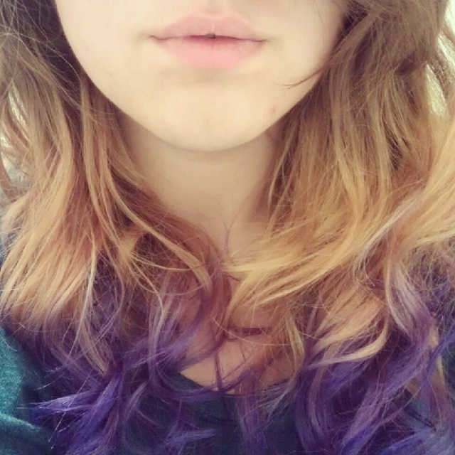 Ombre curly!