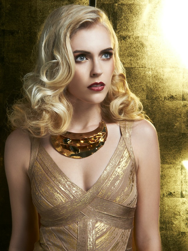 """A Girl in Gold"" Influential Magazine February 2014 Hair & Makeup: Walter Fuentes, Photo: Jorge Rivas"