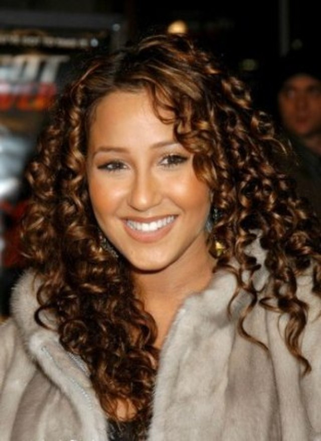 Adrienne Bailon long spiral curls