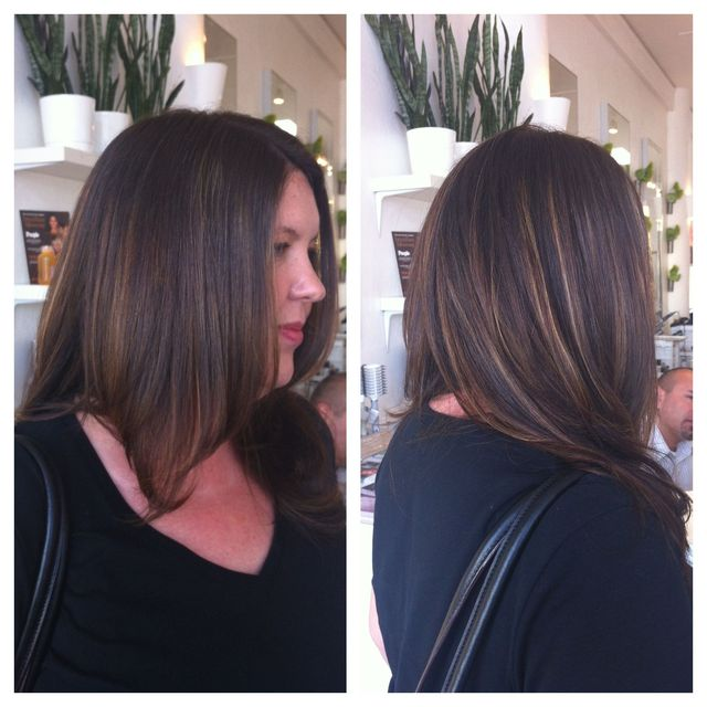 Ash Base with Balayaged Highlights