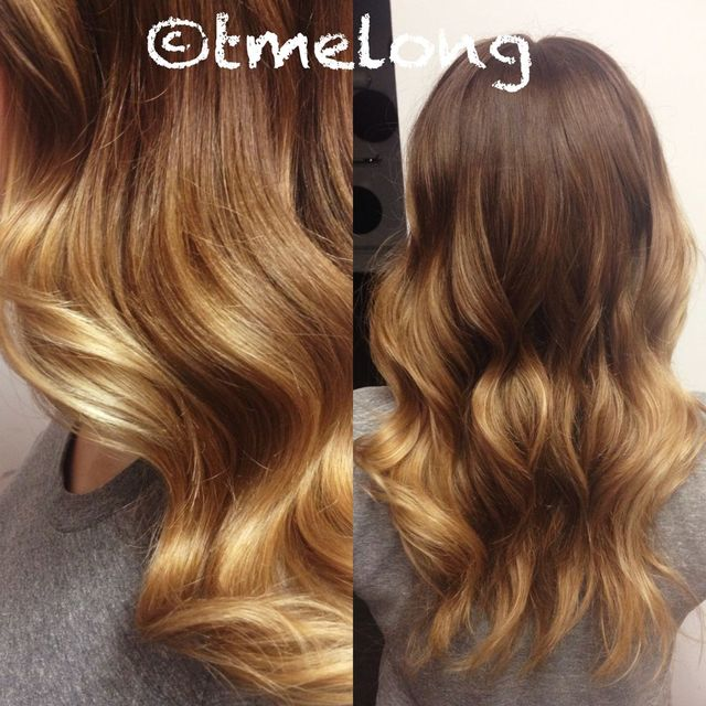 Beautiful Balayage color with a soft blowout and full fringe.
