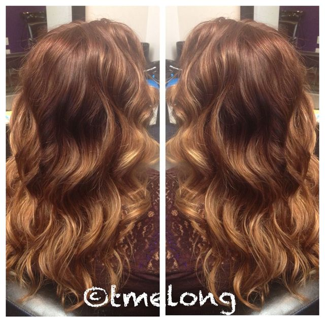 Beautiful, warm toned ombré.