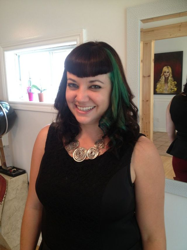 Betty Bangs + Green