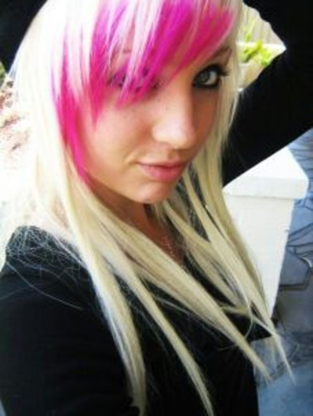 Blonde with pink highlights!