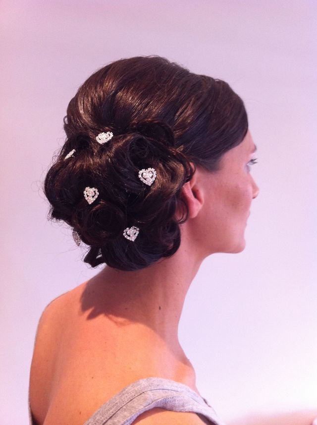 Bridesmaid messy side bun