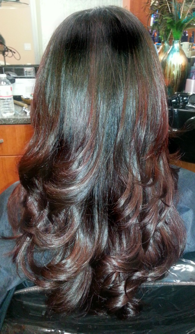 Brunette to Red Ombre