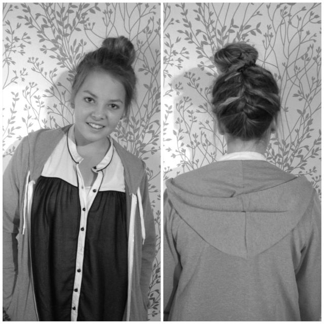 Bun with Braid