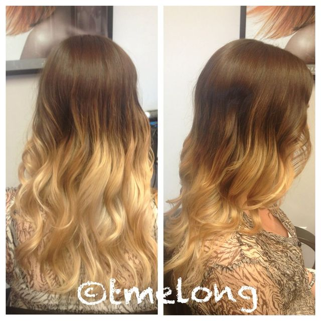 Cayla's high contrast ombré color