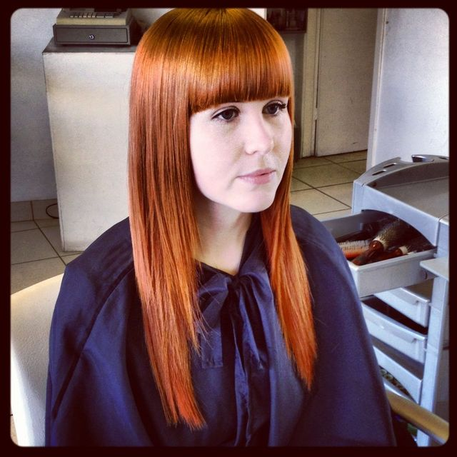 Copper Bangs