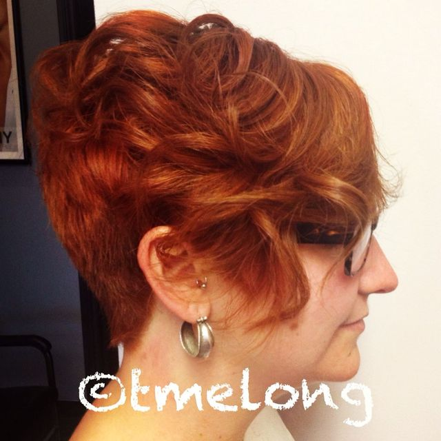 Copper curls.