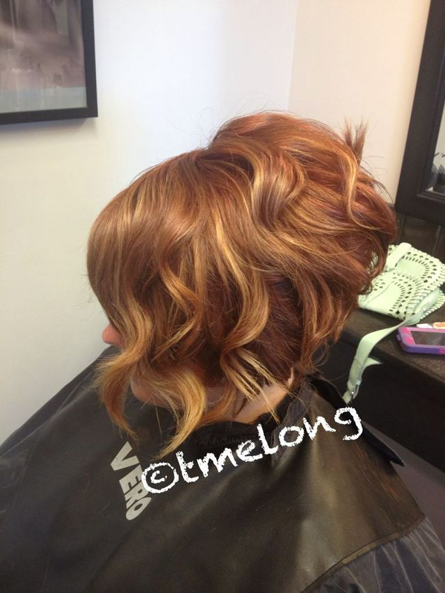 Ellen; ombré highlights with a loose wave