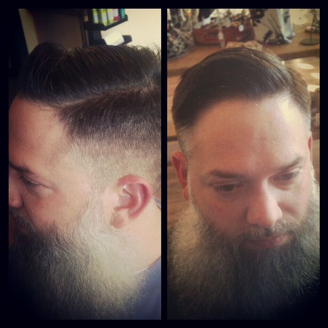 Fade with amazing beard