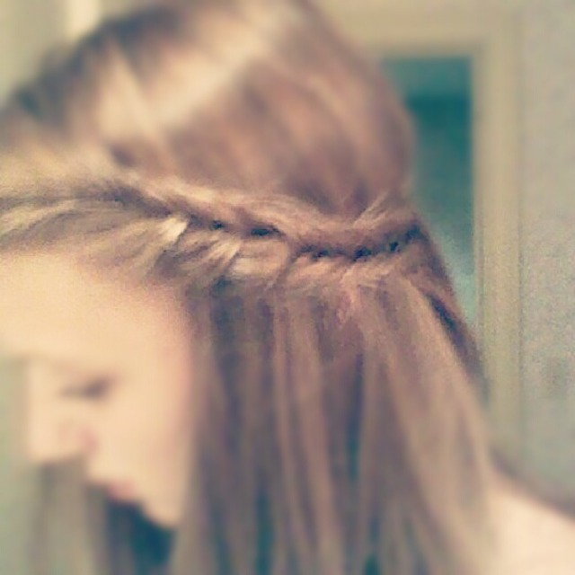 Fishtail braid with bangs