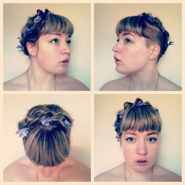 Floral crown braid