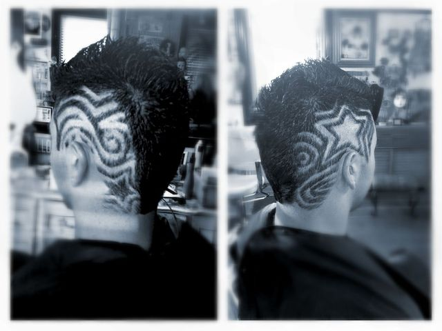 Free hand shaved design