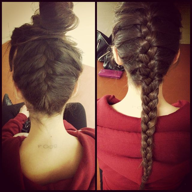 French braid - Bun