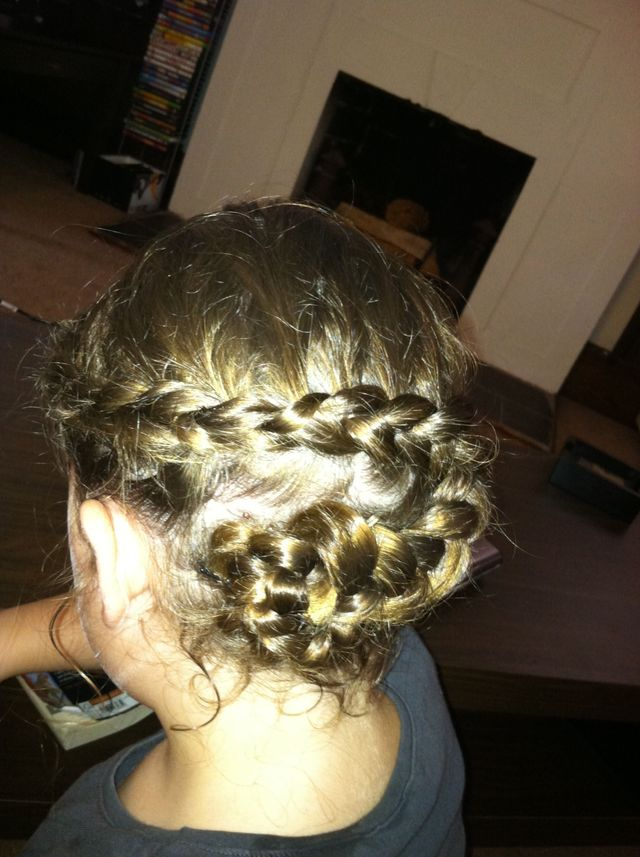 French braid flower