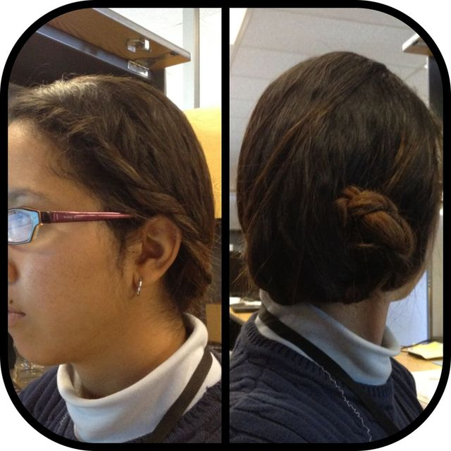 French braid/bun