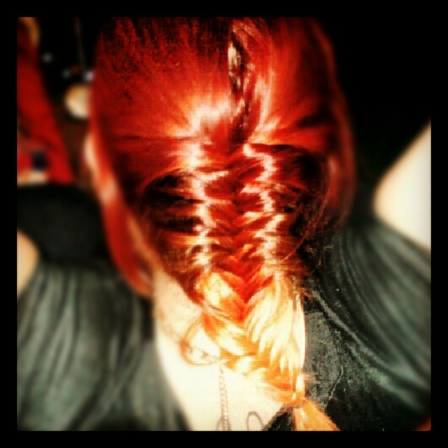 French fishtail with ombre