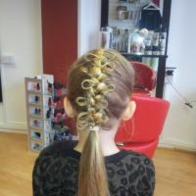 French plait bow