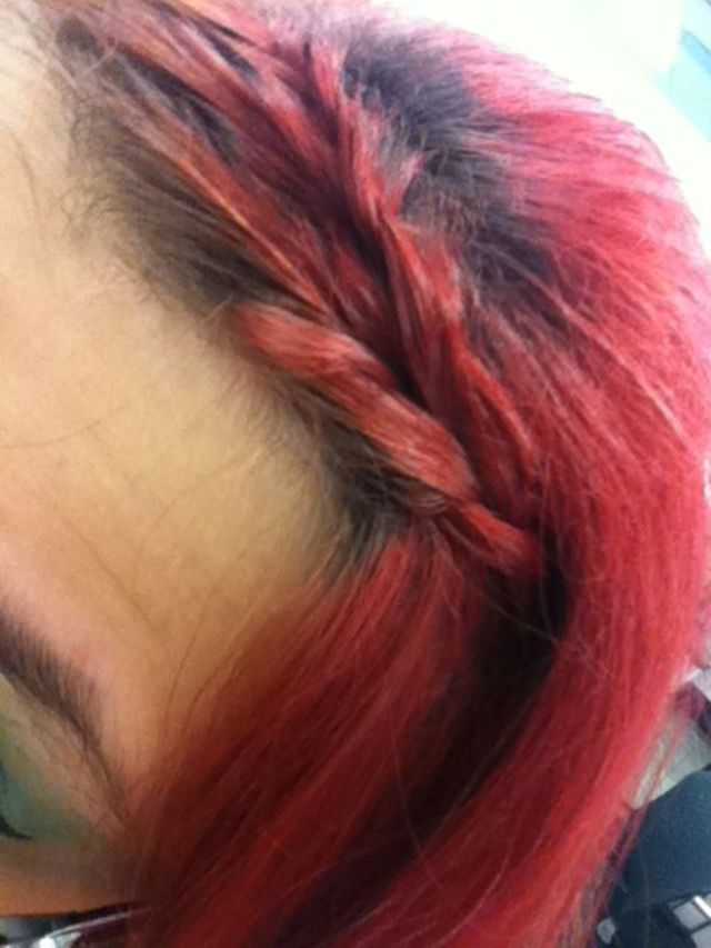 Fringe French over-braid.