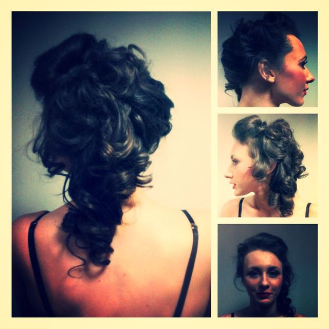 Hair up, photoshoot, long hair curls, pin up!