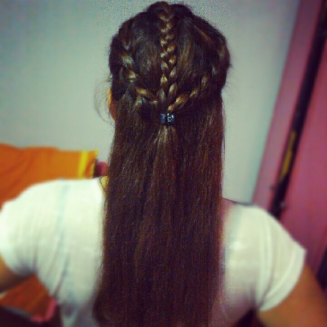 Half braid hairstyle