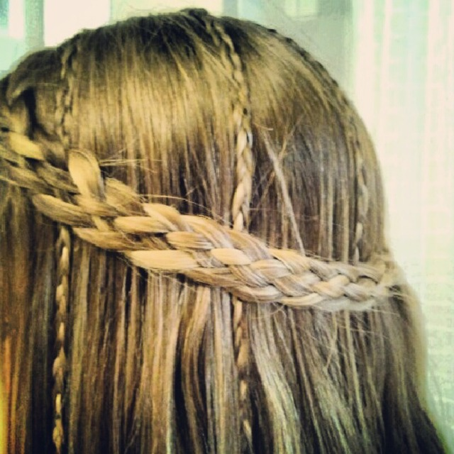 Hippy five strand braid