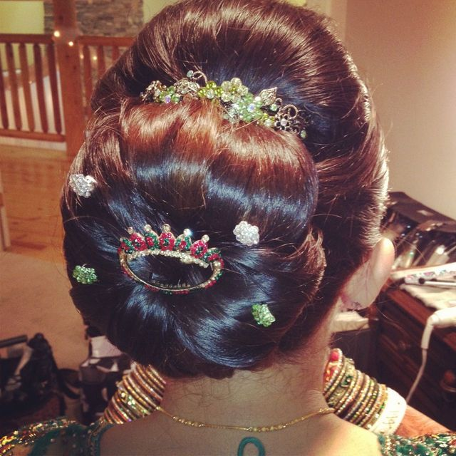 Indian brdal updo