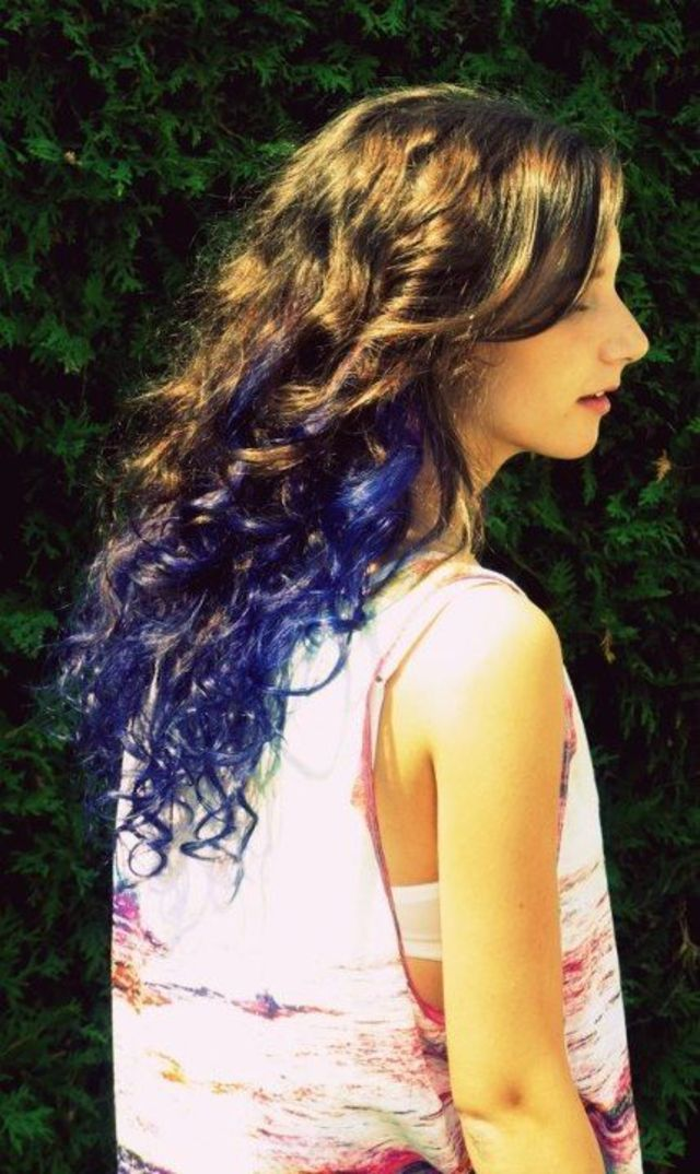 Indigo ombre hair
