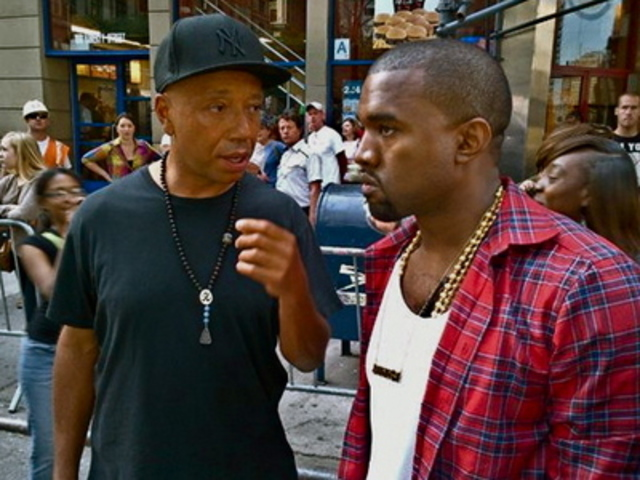 Kanye West Russel Simmons Wall Street Bangstyle