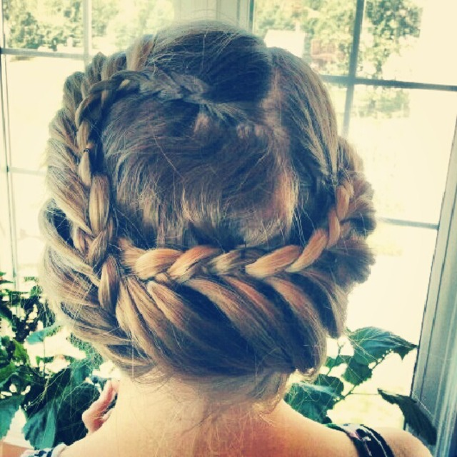 Lace braid updo