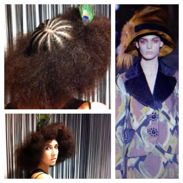Louis Vuitton inspired hat hair