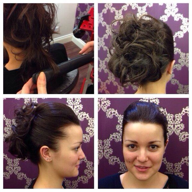 Louise with updo by Vicky