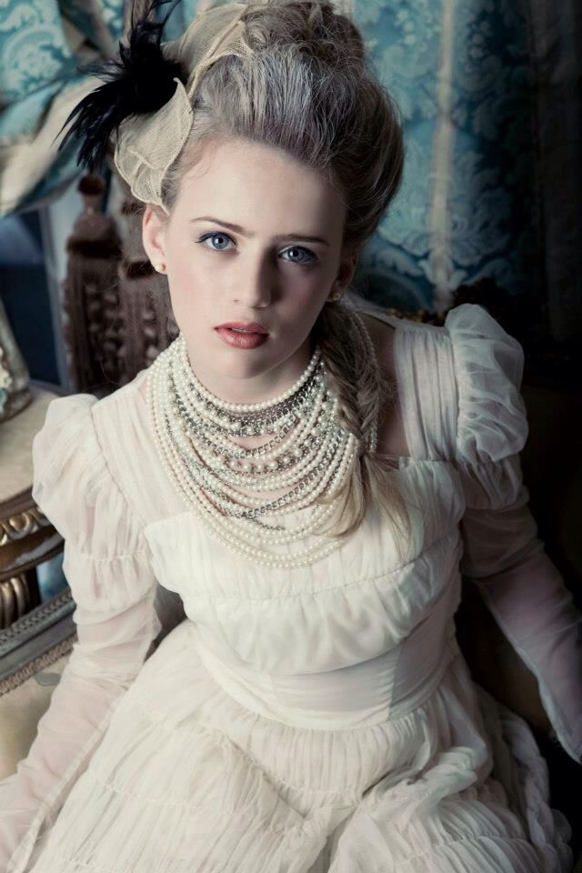 Marie Antoinette inspired shoot. hair and makeup by me. photo by Sarvey Tahmasebi