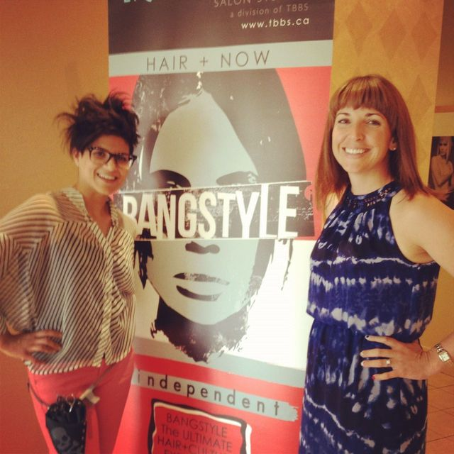 Melissa Hill editor from Salon Magazine loved styling her hair for the Bangstyle event in Toronto